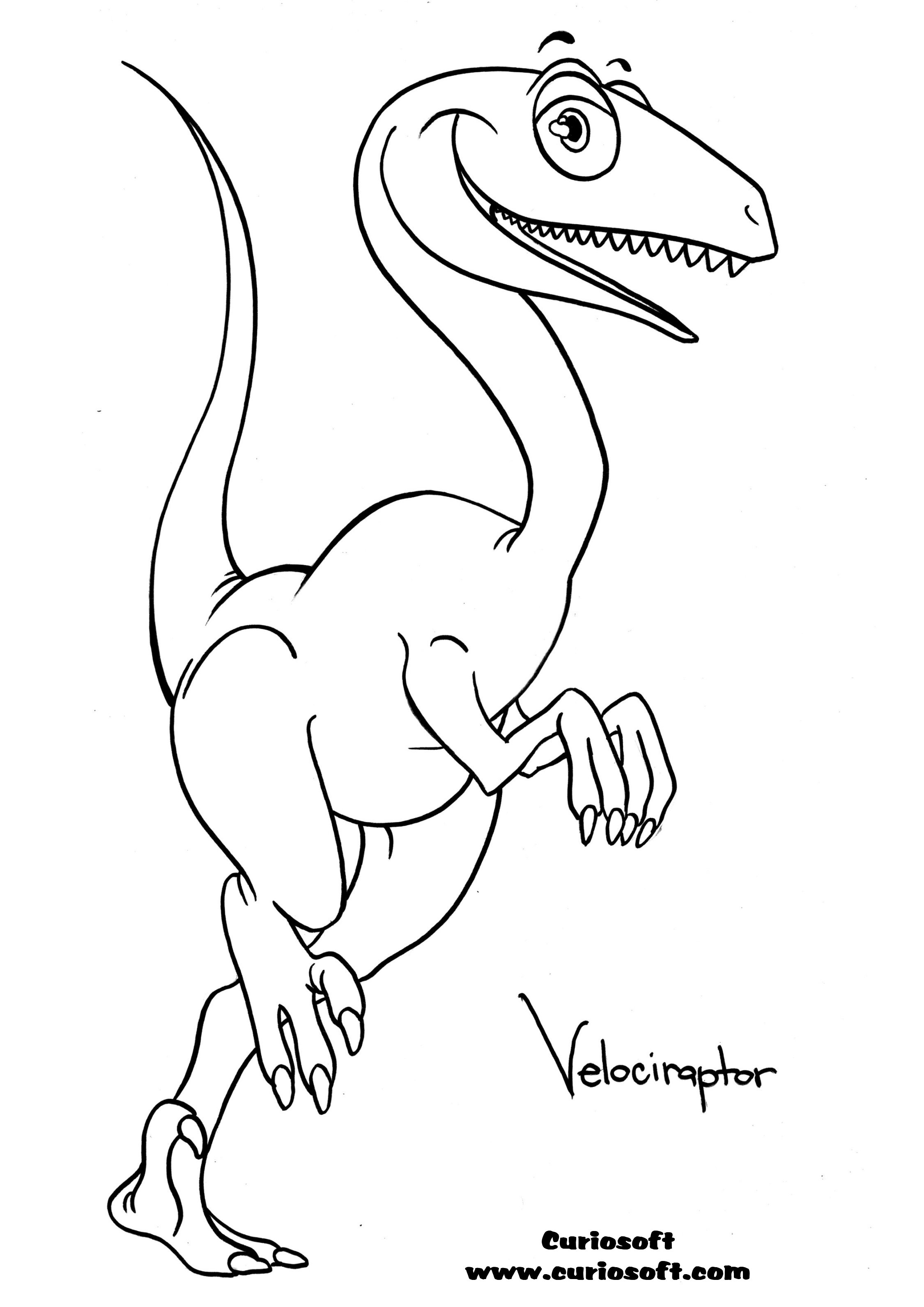 dinosaur coloring pages velociraptor sounds - photo#23